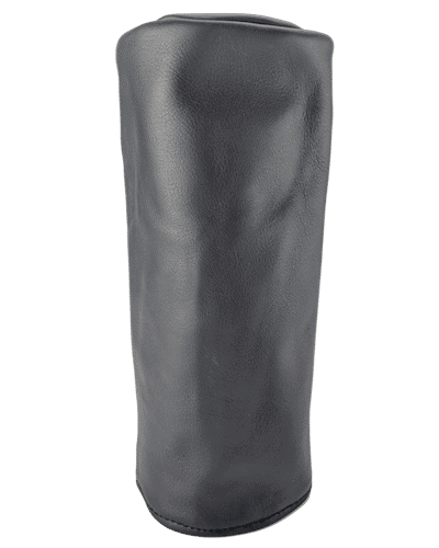 dark grey leather head cover