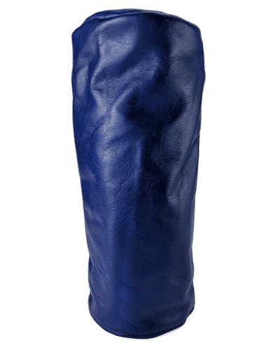 royal blue leather head cover clear background
