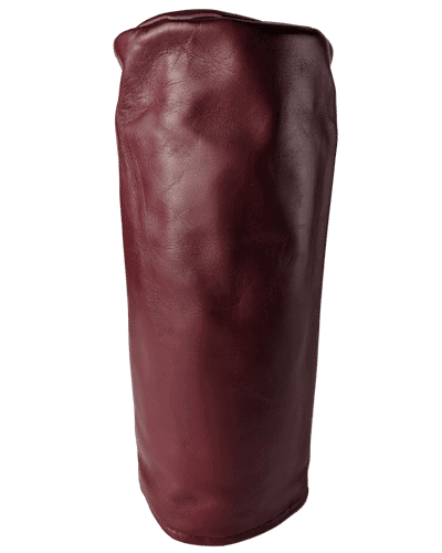 oxblood red leather head cover