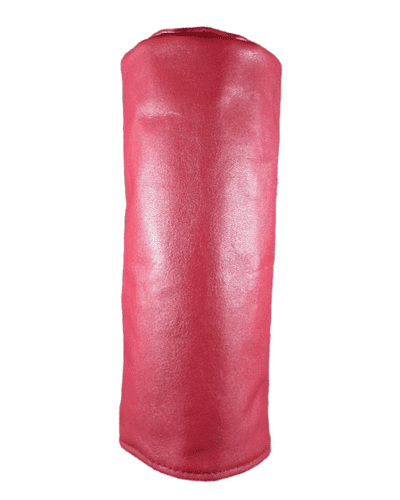 red leather head cover