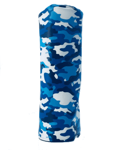 blue camouflage golf head cover
