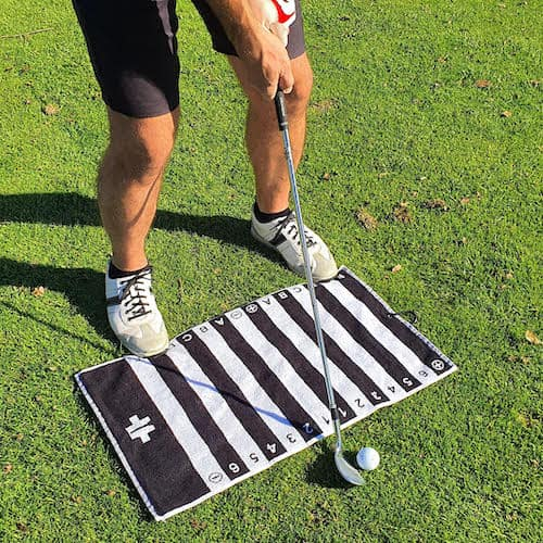 golf swing alignment towel