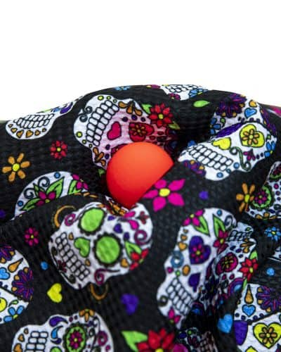 Black Sugar Skull Golf Towel
