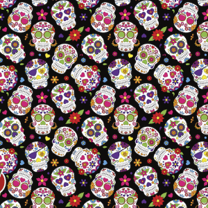 sugar skulls golf towel