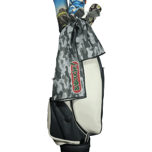 grey camo golf towel