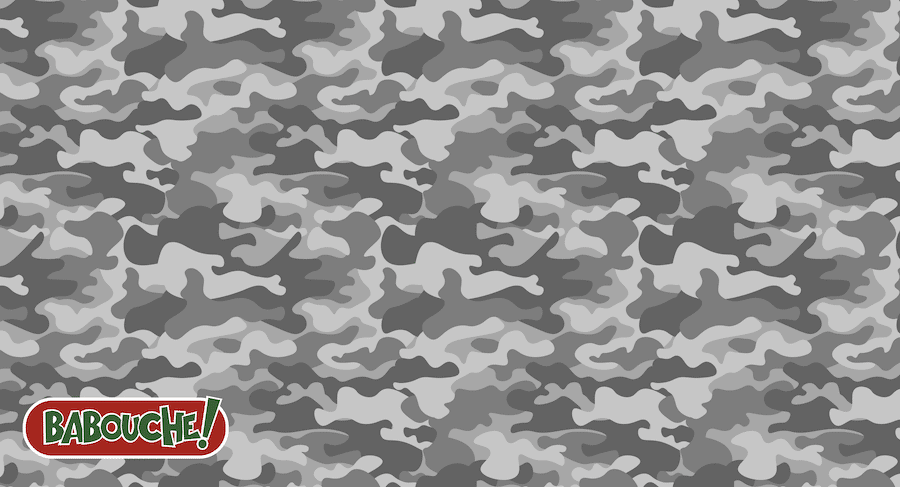 grey camouflage golf towel