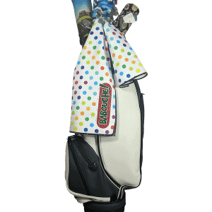 polka dot golf towel