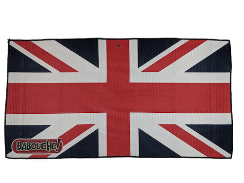 union jack golf towel flat