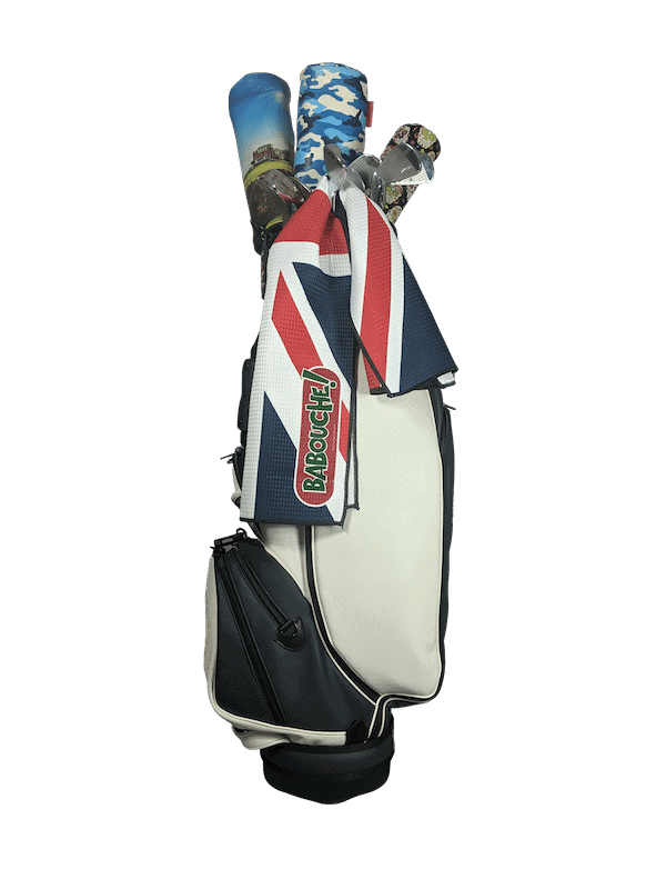 union jack golf towel