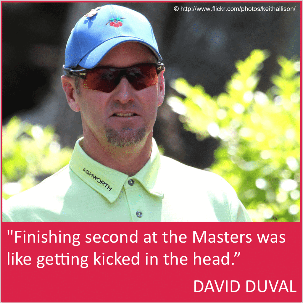 David Duval funny Masters quote