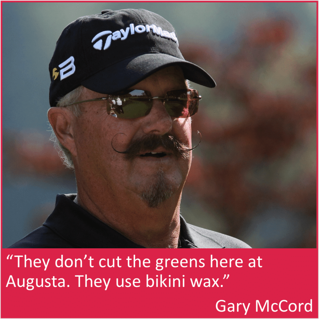 Gary McCord funny Masters quote