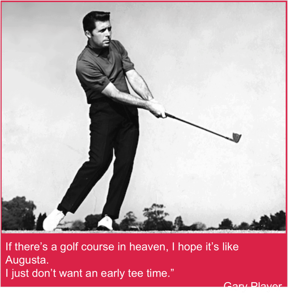 Gary Player funny Masters quote