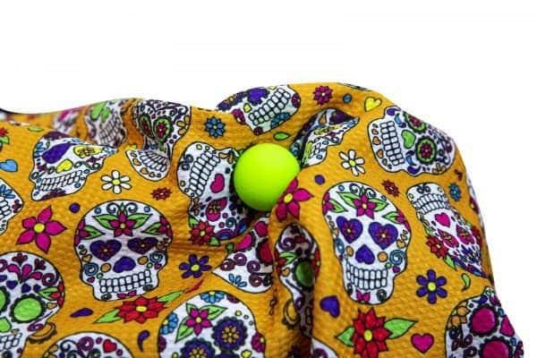 Orange Sugar Skull Golf Towel