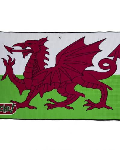 wales flag golf towel