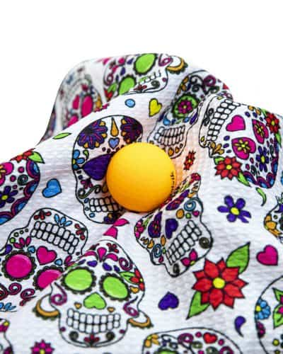 White Sugar Skull Golf Towel