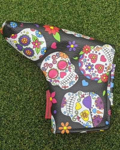 Black Sugar Skull putter cover