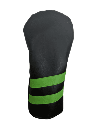 black and green striped head cover