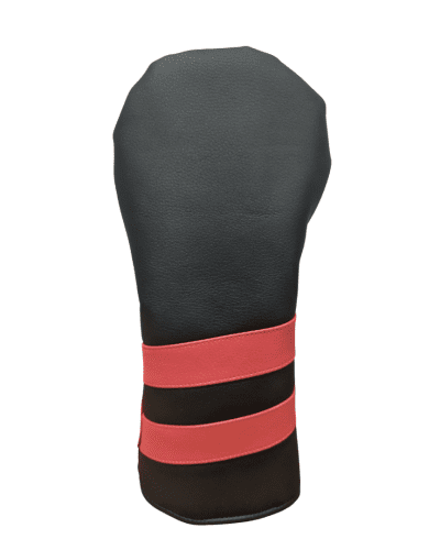 black and red striped head cover