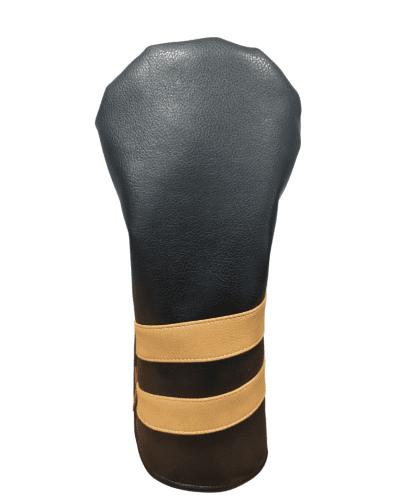 Black and tan striped head cover