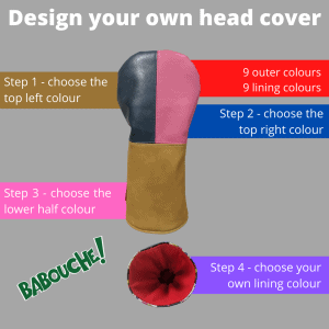 Design your own half and quarters head cover