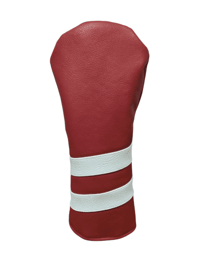 Red and White striped head cover