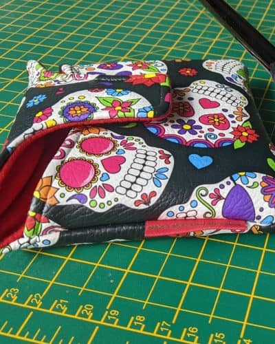 black sugar skull mallet putter cover