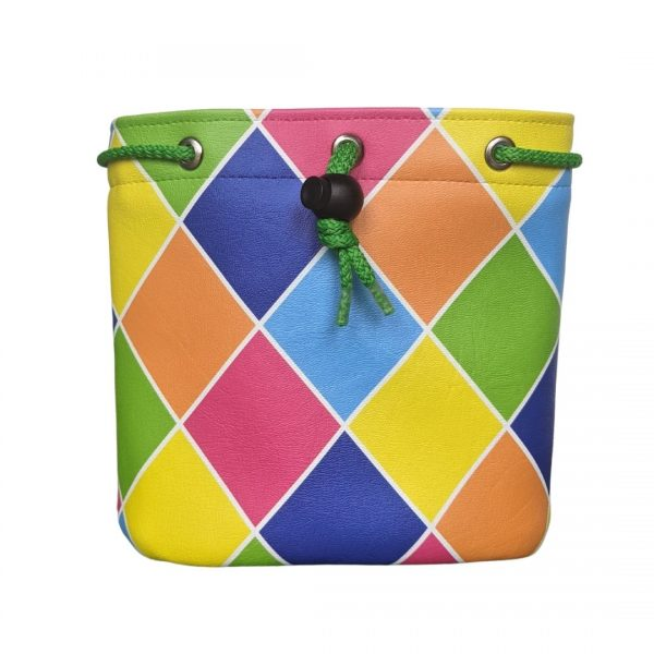 Harlequin golf valuables pouch