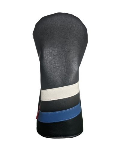 black with white and blue stripe