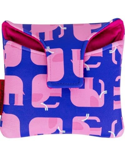 Pink Elephant mallet putter cover