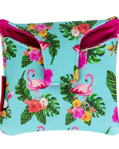 Pink Flamingo mallet putter cover
